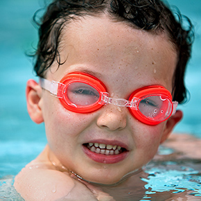 boy with goggles