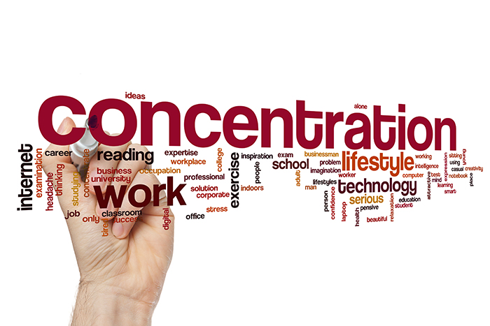Concentration word cloud