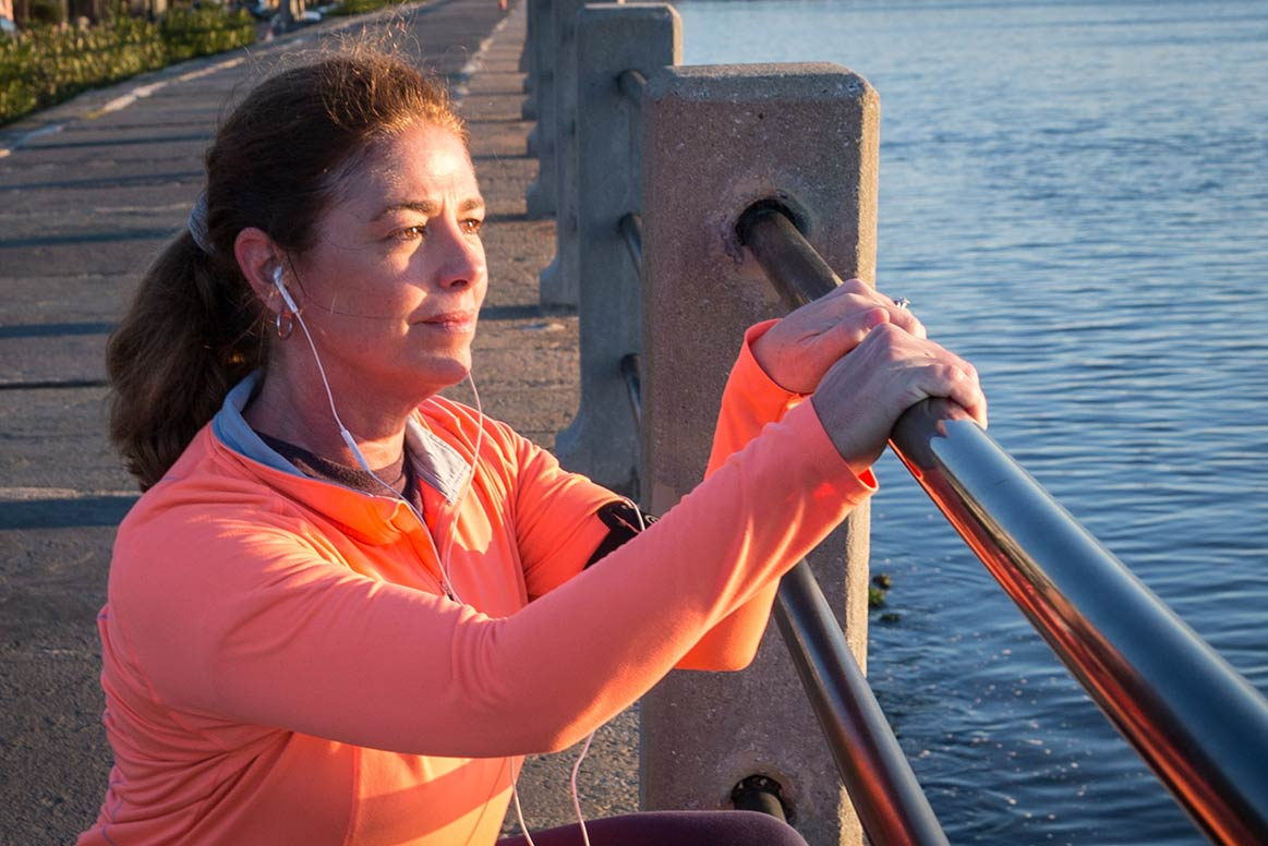 Lorraine Lutton RSFH President & Chief Executive Officer morning stretch