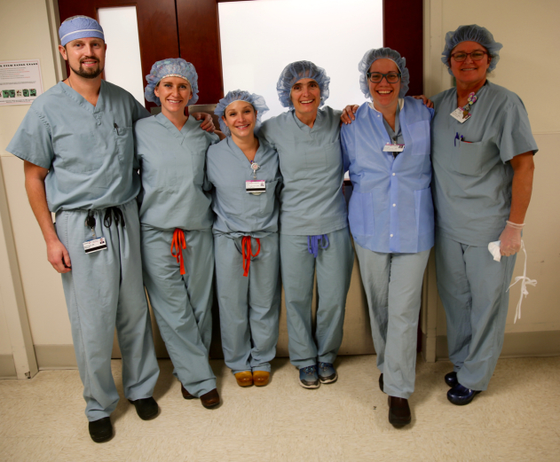Dr. Kline and OR staff