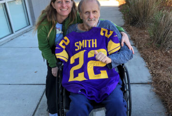 Teammate Surprises Patient with Autographed Jersey