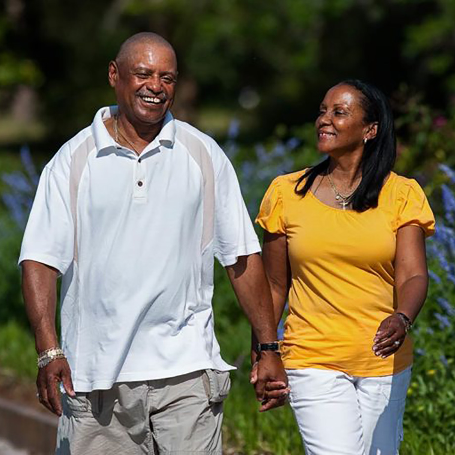African American Couple Walking