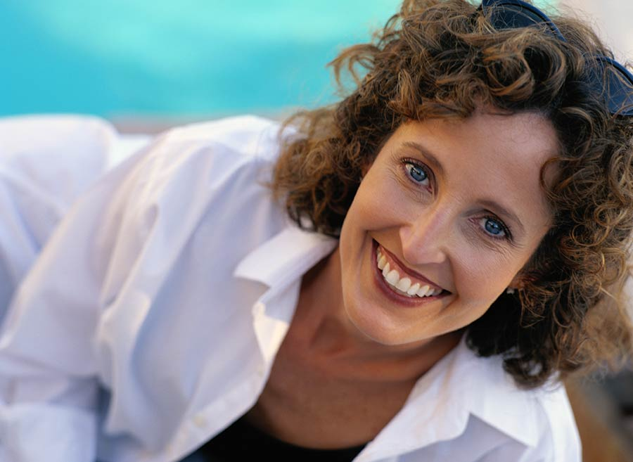middle-aged woman smiling