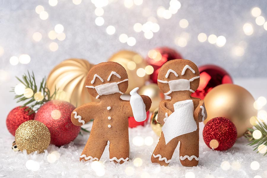 gingerbread men with masks